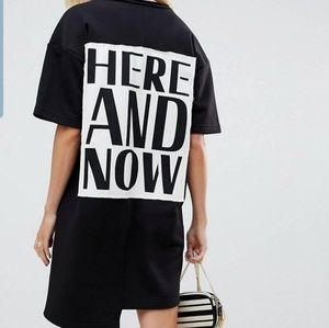 Here and now V neck sweat  dress